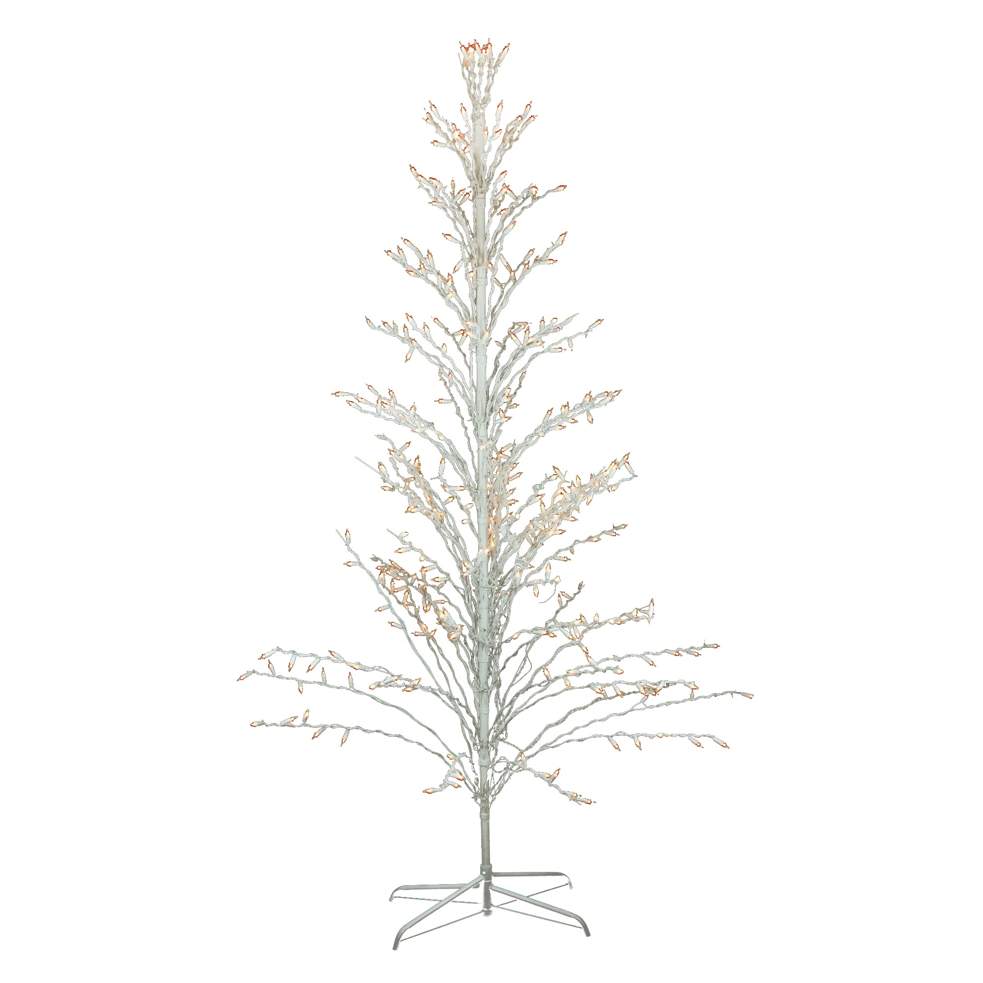 new products 5420d 02409 6' White Lighted Christmas Cascade Twig Tree Outdoor Decoration - Clear  Lights