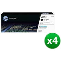 HP 410X High Yield Black Original LaserJet Toner Cartridge (CF410X)(4-Pack)