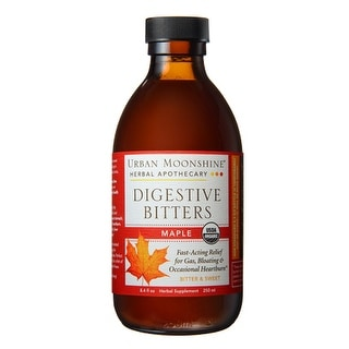 Urban Moonshine Digestive Bitters Maple 8.4 fl oz - 200 Servings - Relief for Gas, Bloating, & Occasional Heartburn