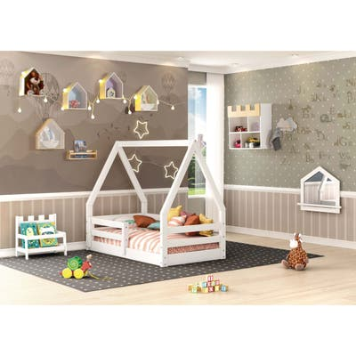 Themes and Rooms Toddler Bed Solid Wood My Cabin