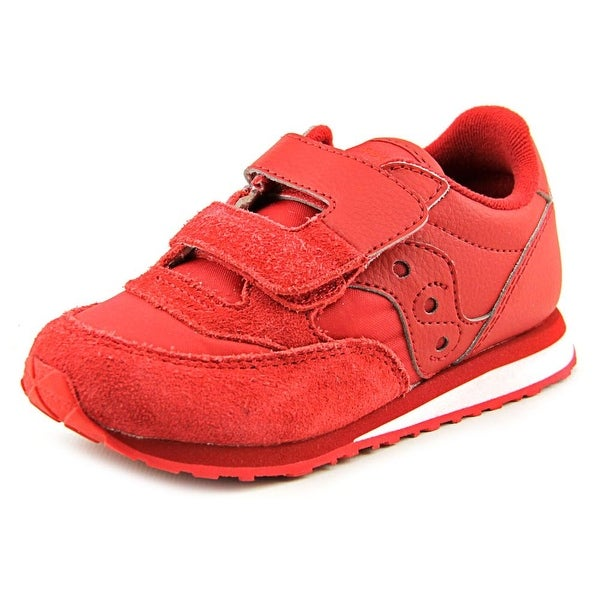 Saucony Baby Jazz HL Toddler Round Toe Leather Red Sneakers