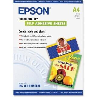 "Epson Self-adhesive - 8.30"" Width x 11.70"" Length - Inkjet - Blue - 1 Each - White"