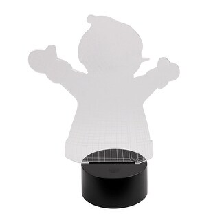 DC 5V Snowman USB 3D Acrylic LED Night Light 7 Color Change Desk Table Lamp