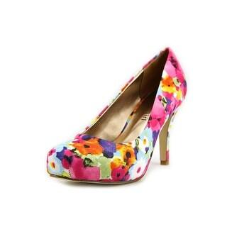 Madden Girl Getta Round Toe Canvas Heels