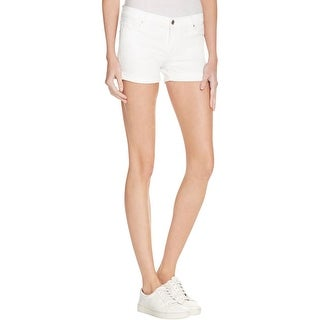 Black Orchid Womens The Roll Up Casual Shorts Twill Cuffed