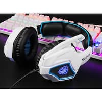 SADES Spirit Wolf 7.1 Surround Sound Stereo USB Gaming Headset with MIC