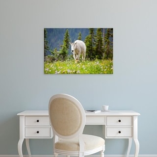 Easy Art Prints Jamie & Judy Wild's 'Mountain Goat' Premium Canvas Art