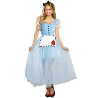 Dreamgirl Alice Adult Costume - Blue/White