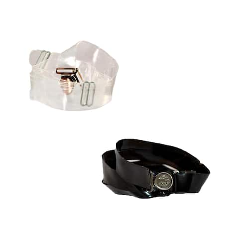 isABelt Women's No Show Buckle Magnetic Clasp Stretch Belt (Pack of 2) - one size