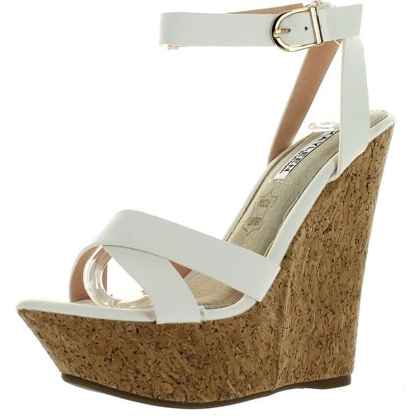 Kayleen Dame-1 Womens Fashion Ankle Strap High Heel Platform Wedge Sandals