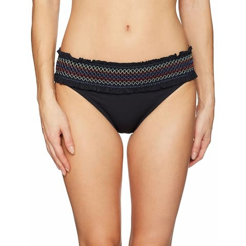 Bleu by Rod Beattie Stitched-Band Bikini Bottoms Ladies Size 14 Black