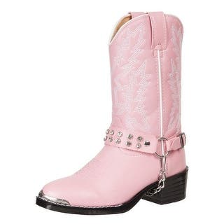 Durango Western Boots Girls Rhinestone Cowboy Heel Pink Bling BT568|https://ak1.ostkcdn.com/images/products/is/images/direct/38466f973b9199a399a5d2dbd42e0eedd23bbdab/Durango-Western-Boots-Girls-Rhinestone-Cowboy-Heel-Pink-Bling-BT568.jpg?impolicy=medium