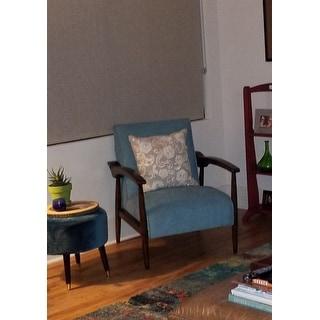 Gracie Mid Century Blue Arm Chair