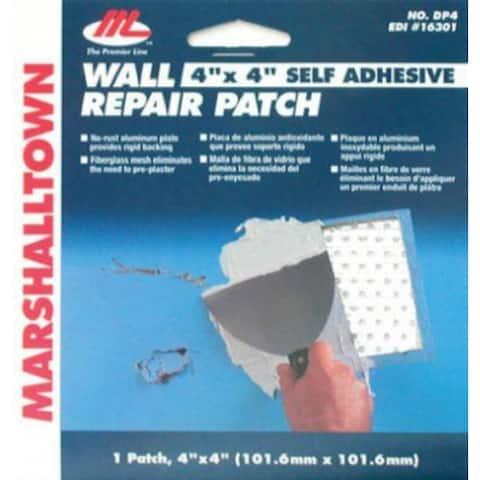 "Marshalltown 16301 Drywall Repair Patch Kit, 4"" x 4"""