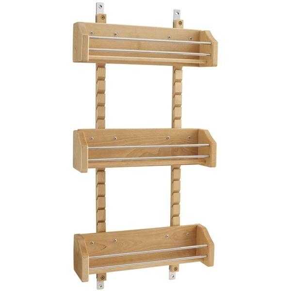 Rev-A-Shelf 4ASR-18 4ASR Series Door Mount Spice Rack with Adjustable - Natural Wood. Opens flyout.