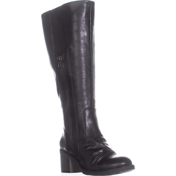BareTraps Dallia Wide Calf Double Zipper Knee High Boots, Black