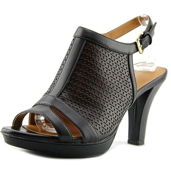 Naturalizer Dania Women Open-Toe Synthetic Black Slingback Sandal