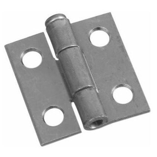 Stanley 348-979 Narrow Light-Duty Tight Pin Hinge, Stainless Steel, 1-1/2""
