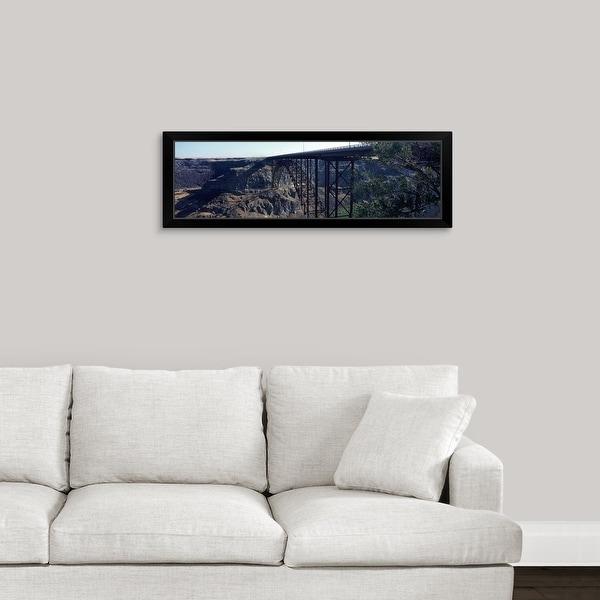 """Snake River Bridge Twin Falls Idaho"" Black Framed Print"