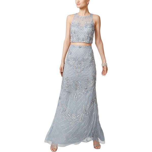 Adrianna Papell Womens Evening Dress Mesh Special Occasion