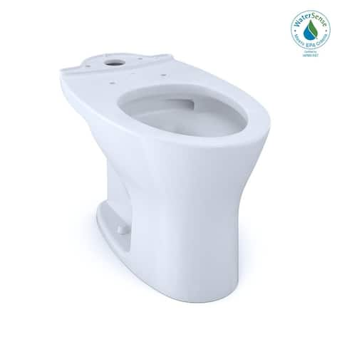 Toto Drake Dual Flush Elongated Universal Height Toilet Bowl For 10 Inch Rough-In with Cefiontect Cotton (CT746CUFG.10#01)