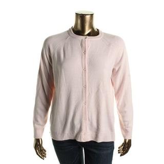 Karen Scott Womens Plus Button Down Textured Cardigan Sweater - 0X