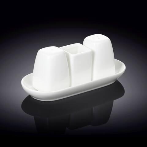 """Wilmax Fine Porcelain Set Of 2 Salt&Pepper Set - 3.3"""""""