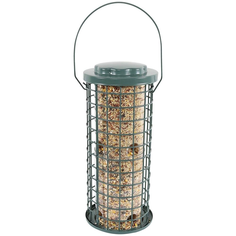 Sunnydaze Green Wire Bird Feeder with Inner Plastic Tube - Thumbnail 2