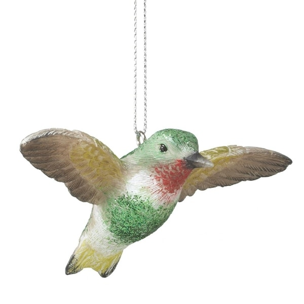 "4"" Sparkling Glitter Drenched Hummingbird Christmas Ornament"