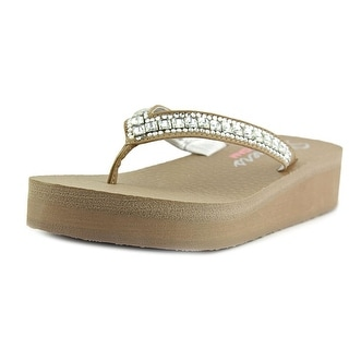 Skechers Vinyasa Open Toe Synthetic Wedge Sandal