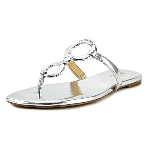 008bd7198 Shop Michael Michael Kors Claudia Flat Sandal Women Metallic Sandals ...