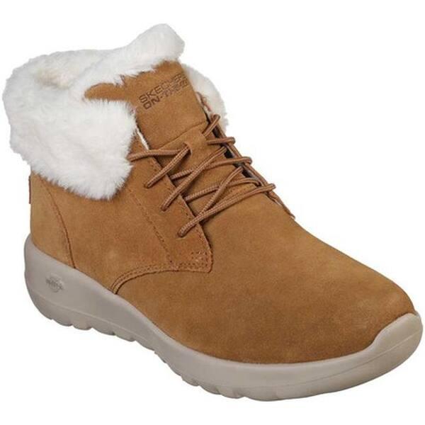 ab27190084e8 Shop Skechers Women s On The GO Joy Lush Ankle Boot Chestnut - On ...