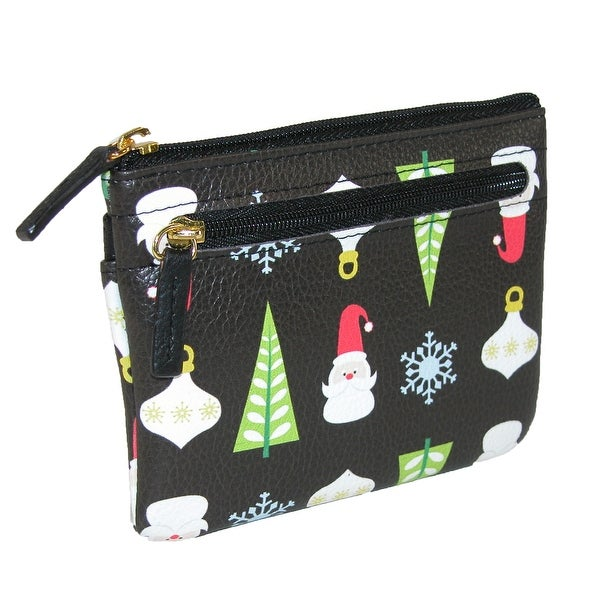Buxton Women's Holiday Christmas Coin and Card Case Wallet - One size