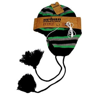 Urban Pipeline Peruvian Winter Knit Beanie Hat Detachable 3.5mm Headphones - One size