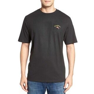 Tommy Bahama Hoppy Holidays Coal Black Graphic T-Shirt Small S