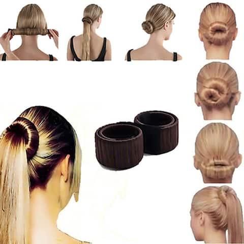 Fashion Women Twist Hair Bun Maker Donut Styling Braid Holder Accessory Tool