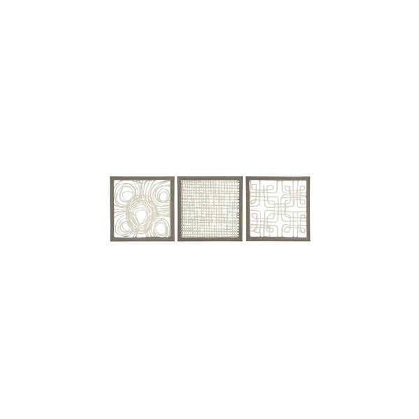 Odella Cream-Taupe Wall Decor Set A8010009 - Set Of 3 Odella Cream-Taupe Wall Decor Set - Set Of 3