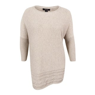 Style & Co. Women's Plus Size Cable-Hem Sweater