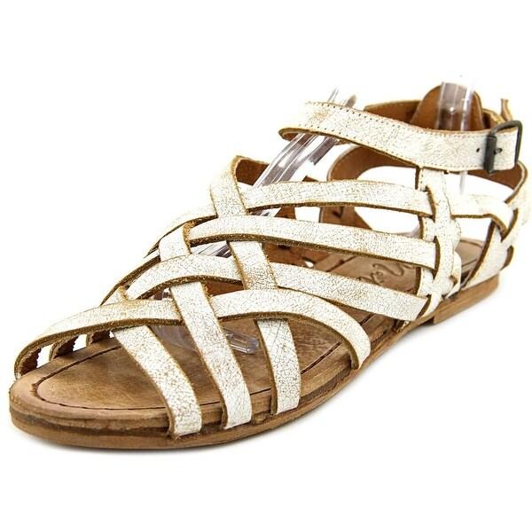 Matisse Tetris Women Open Toe Leather White Gladiator Sandal