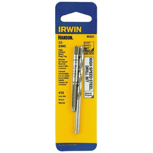 Irwin Tools 80222 Hanson 12-24 NC Tap And #16 Drill Bit
