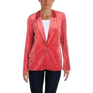 Scotch & Soda Womens One-Button Blazer Velvet Velveteen