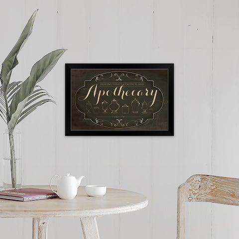 """Apothecary"" Black Framed Print"