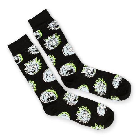 Rick And Morty Black Crew Sock OSFM