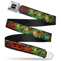 Classic Tmnt Logo Full Color Classic Tmnt Turtles Pose15 Shell Shocked Seatbelt Belt