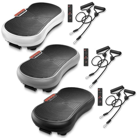 Vibration Plate Exercise Machine with Resistance Bands
