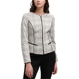 Link to Dkny Womens Faux-Leather Trim Jacket Similar Items in Women's Outerwear