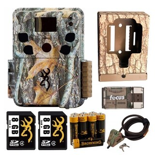 Browning Dark Ops HD Pro 18MP Trail Camera with Security Box and Accessory Kit - Camouflage