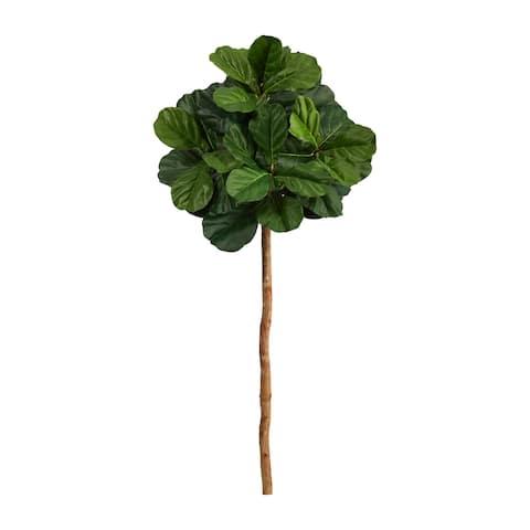 "4.5' Fiddle Leaf Artificial Tree (No Pot) - 6"""
