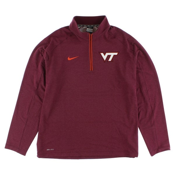 54df26ad09f Shop Nike Mens Virginia Tech Hokies Game Day Half Zip T Shirt Maroon -  maroon white orange - XxL - On Sale - Free Shipping Today - Overstock -  22614852