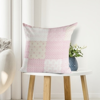 Link to LR Home Cotton Candy Kantha Throw Pillow 20 Inch Similar Items in Decorative Accessories